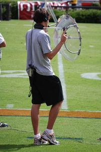 Parabolic Microphone at a sports game