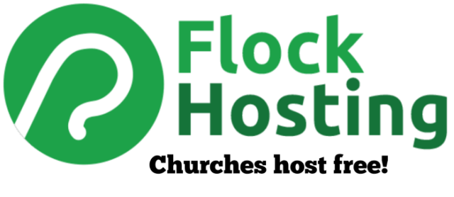 Flock Hosting affiliate link Churches host FREE!