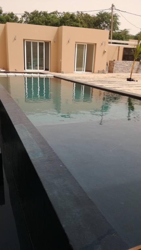 Mise en eau et verification du débordement parfait