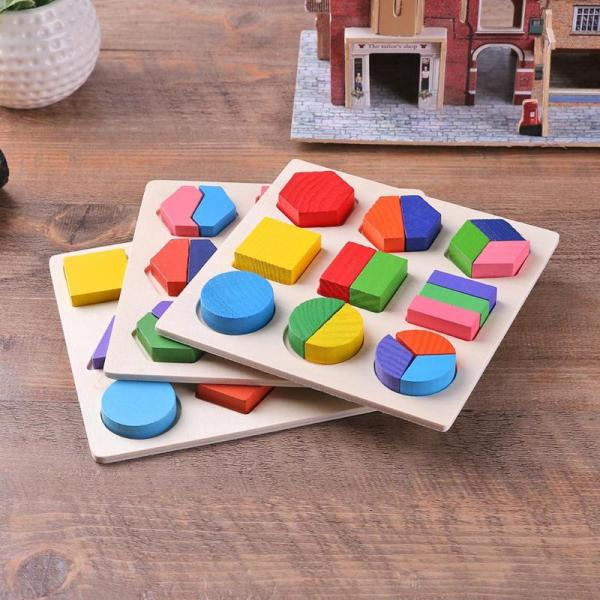 Geometric Educational Wooden Puzzle Toy 3
