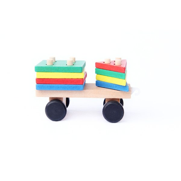 Kid's Wooden Train Montessori Toy 5