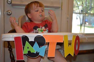 Enjoying his cake