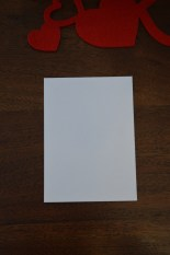 White cardstock cut to size