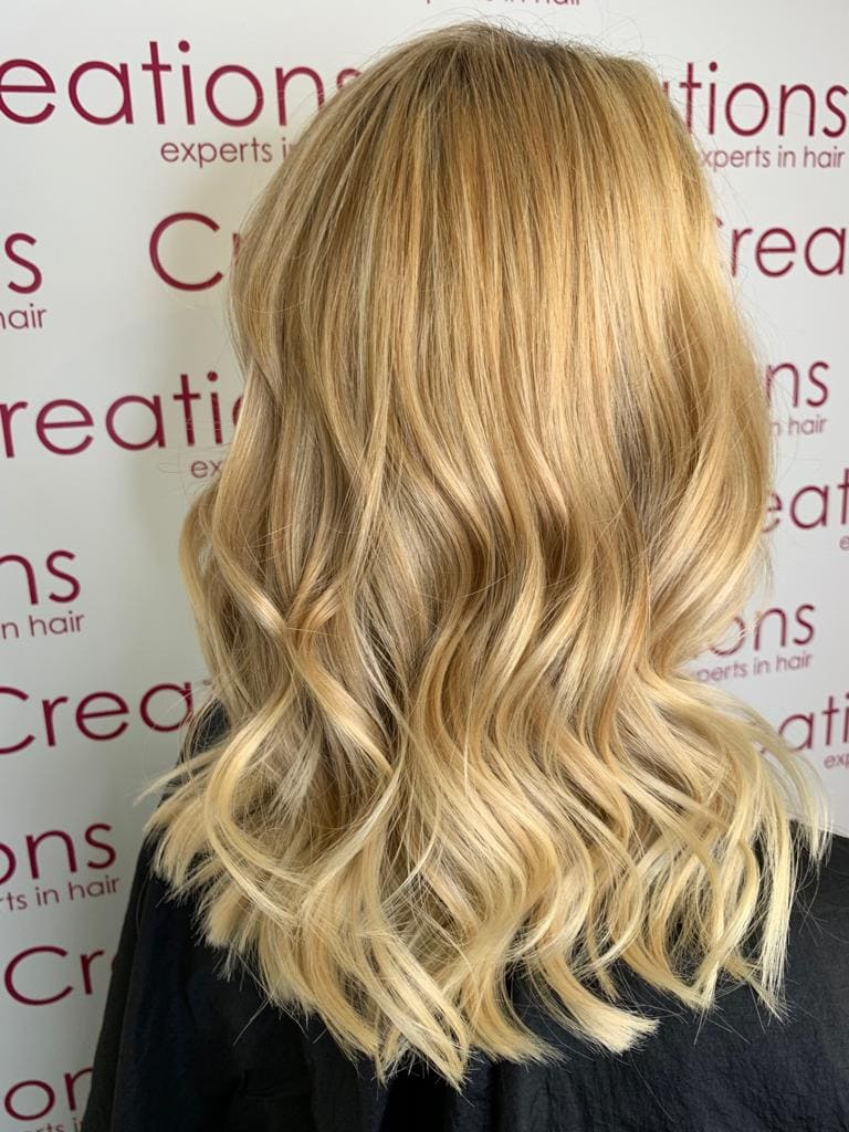 Soft Natural Blonde Highlights