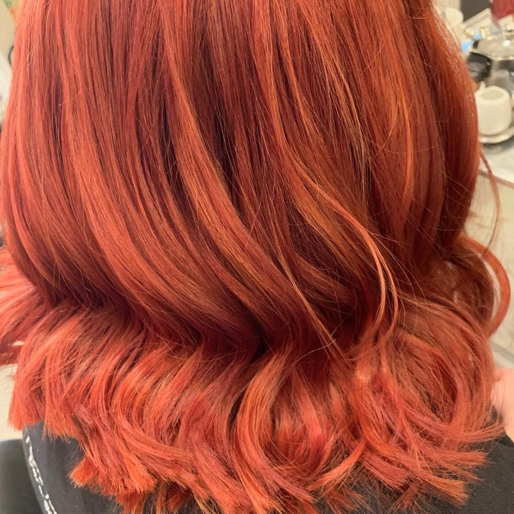 Fiery Copper red Hair colour