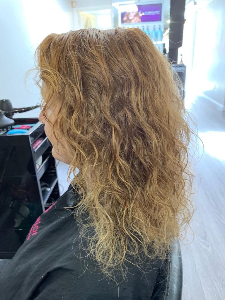 Mid Brown Natural Curls