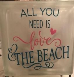 love and beach light