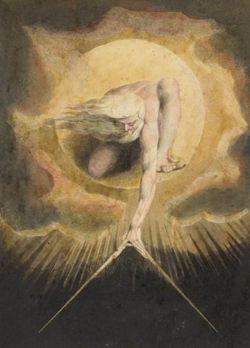 """""""Urizen como el Creador del mundo material"""" de William Blake. 1794."""