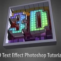 40 Stunning 3D Text Effect Photoshop Tutorials
