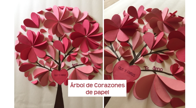 Cómo hacer un árbol de corazones de papel | Creativa Official