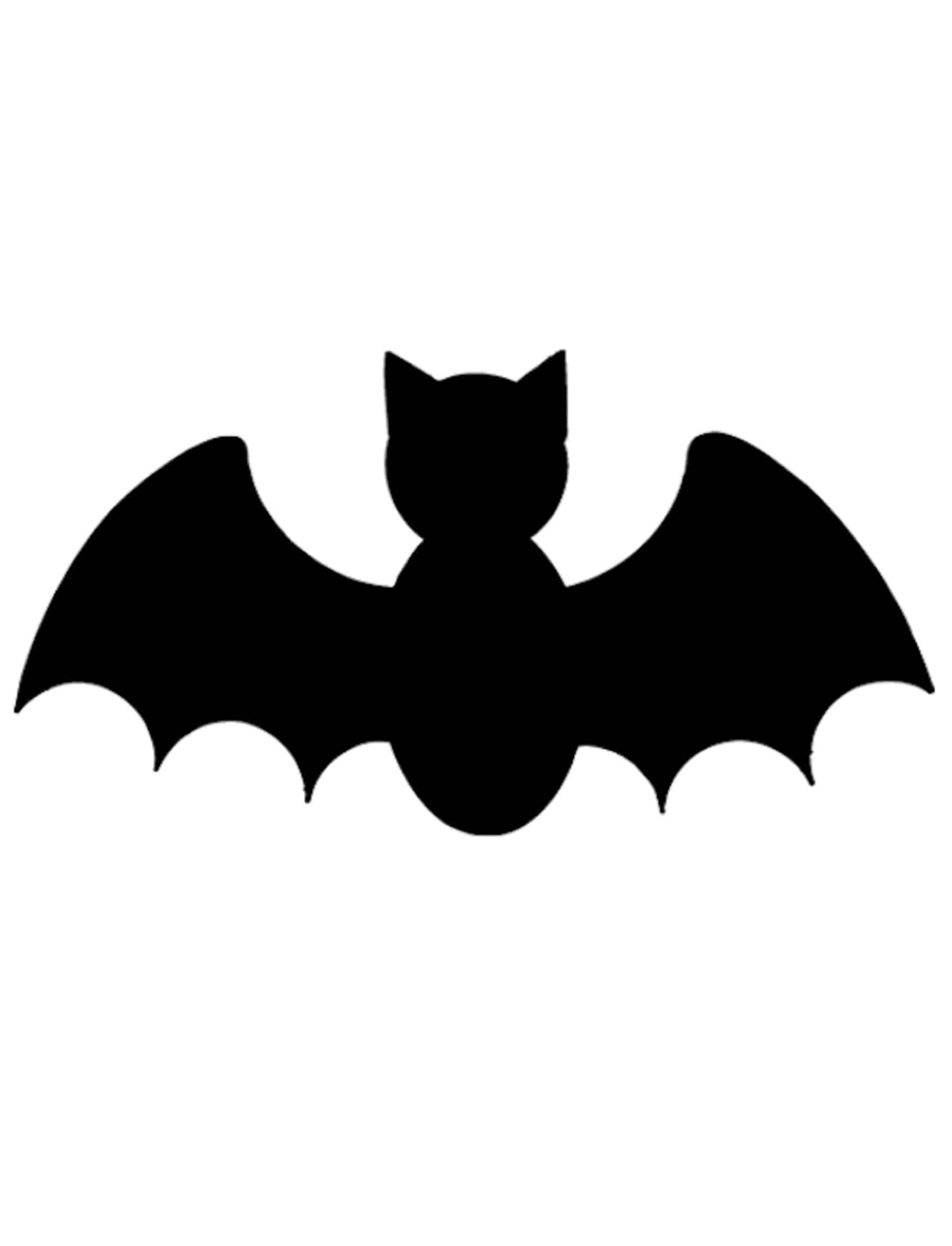 Simple Bat Pumpkin Carving Pattern