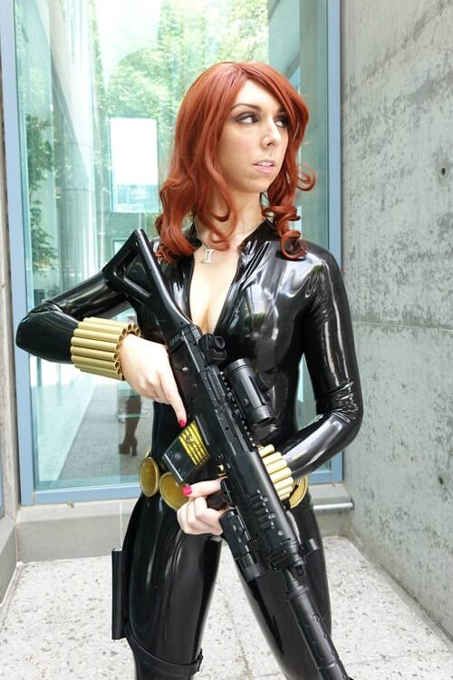 Latex Black Widow Cosplay By Jerikandra 2 Creative Ads