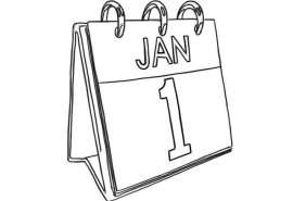 01-01 Jan 1 Calendar