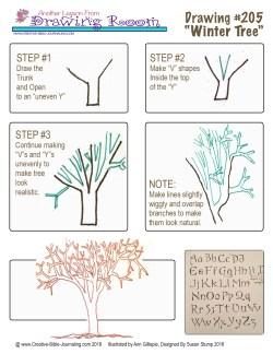 #205 Drawing Room - Winter Tree