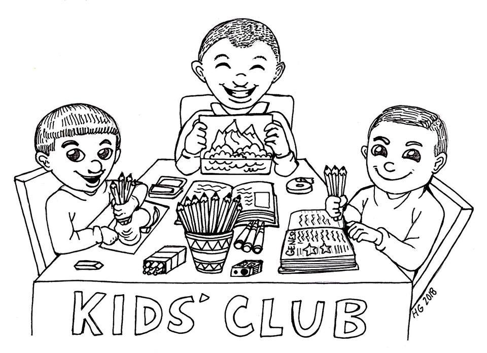 KC Kids Coloring Page 3 Boys
