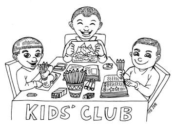 KC kids coloring page 3 boys
