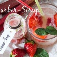 Rhabarber-Sirup - schnell gemacht und super erfrischend als Schorle