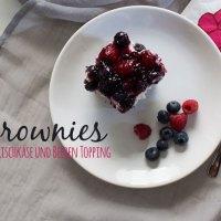 Brownies mit Frischkäse und Beeren Topping