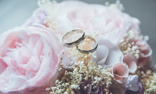 wedding rings at a renewal of vows ceremony