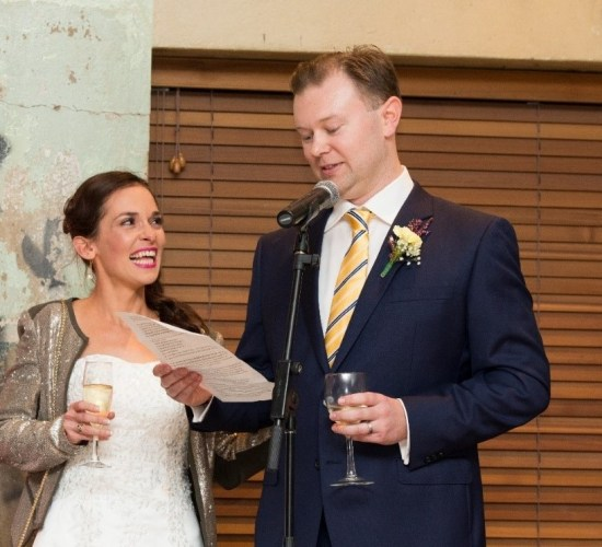 Practise your speech so you are more relaxed on your wedding