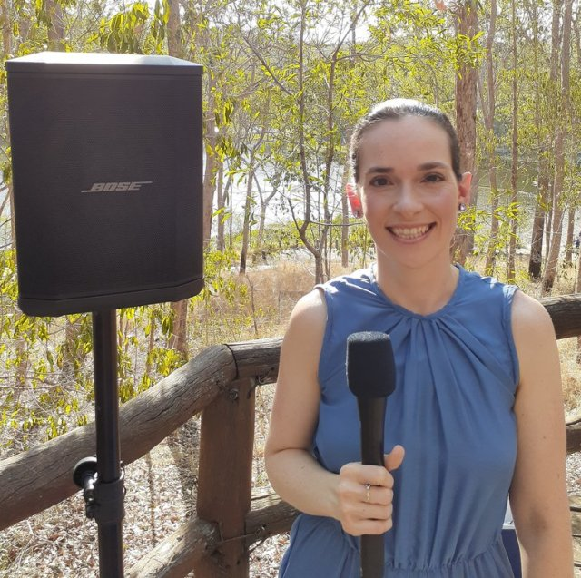 Fun Brisbane celebrant at Walkabout Creek Weddings
