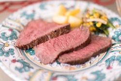 料理写真撮影:牛のたたき調理写真撮影