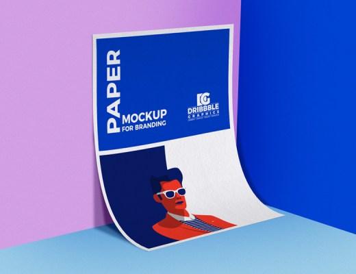 Paper PSD Mockup