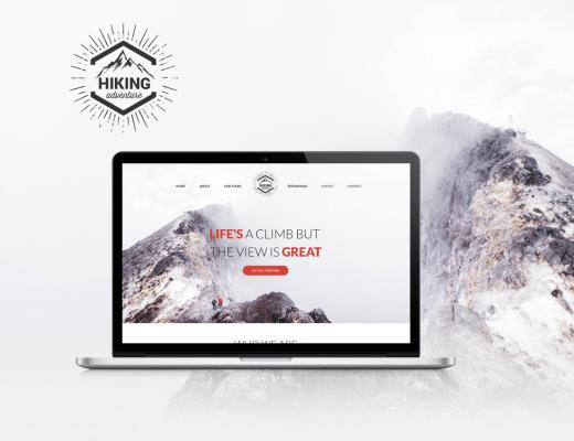 Hiking Website free PSD