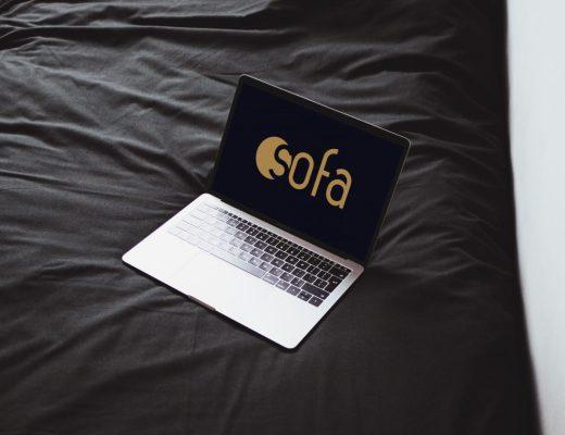 Macbook Pro Mockup on Bed