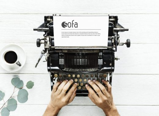 Great and unique freebie today from us, a photorealistic typewriter mockup! Use it to promote your graphic design work in a modern but in the same time, a vintage manner. Hope you like it and do not forget to show some appreciation.