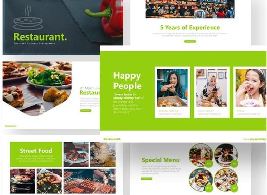 Free Restaurant PowerPoint Template