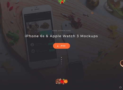 iPhone Apple Watch Mockup
