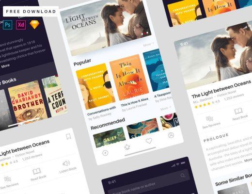 books app free ui kit