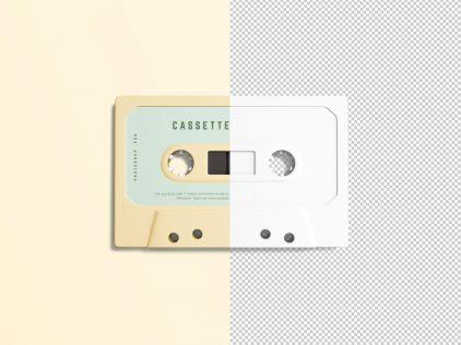 free cassette mockup