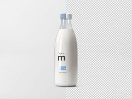 Milk Glass Bottle Mockup
