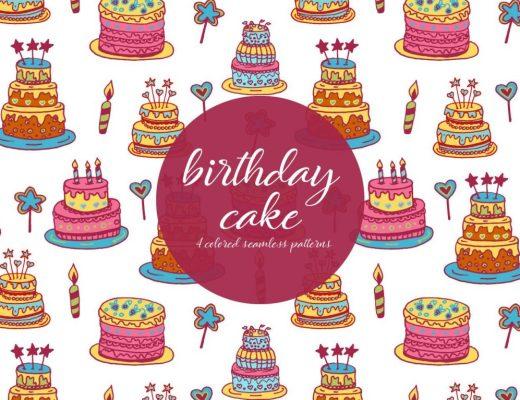 birthday cake illustration pattern