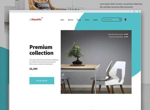 Free Furniture Website PSD Template