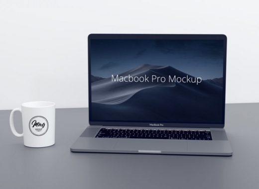 Macbook Pro & Coffee Mug Mockup