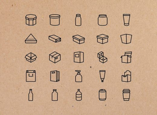 25 Packaging Icons