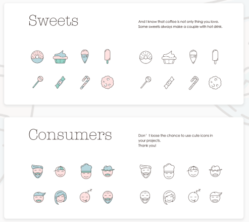 icon set - Coffeecons