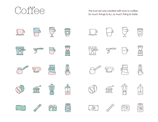 Coffeecons Icon Set
