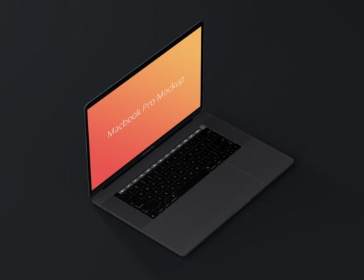 MacBook Pro Isometric Mockup