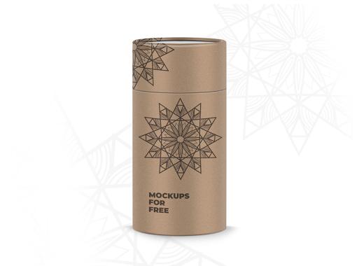 Cylinder Box Mockup