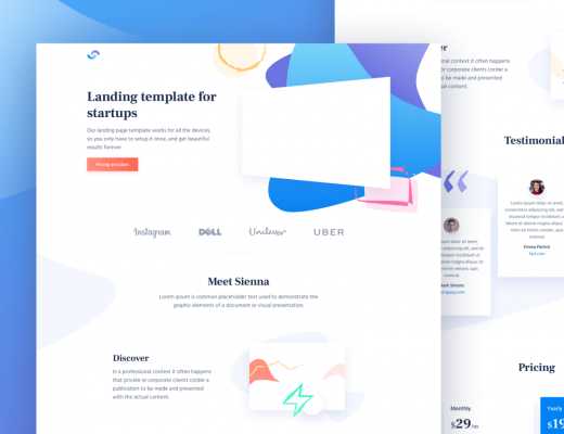 Free Material Design HTML Landing Page