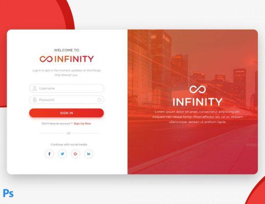Free Material Design Login Page UI