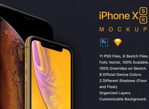 New 2018 iPhones Mockup iPhone XS and iPhone XR