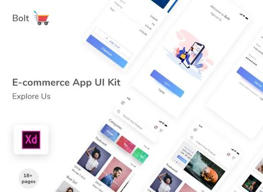 Free E-commerce APP UI KIT