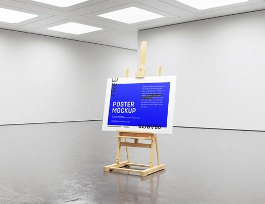 Gallery Easel Mockup