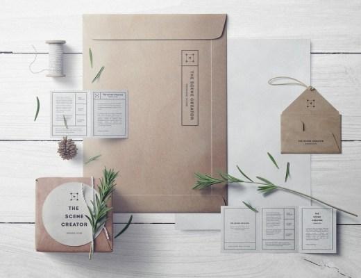 free craft branding mockup set