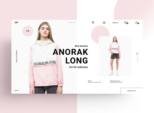 free fashion website template psd